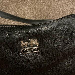 Coach authentic black leather purse